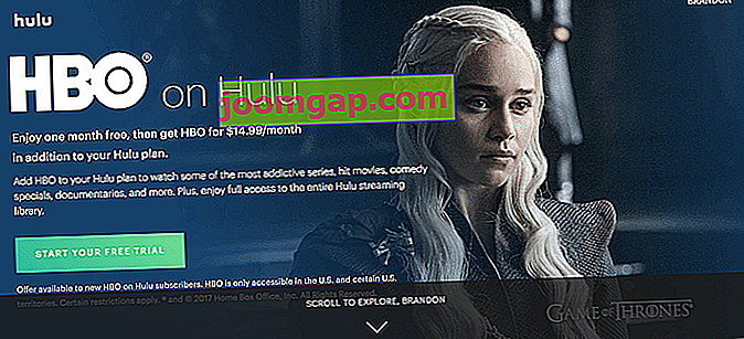 Wie man Game of Thrones online sieht Hulus HBO-Paket