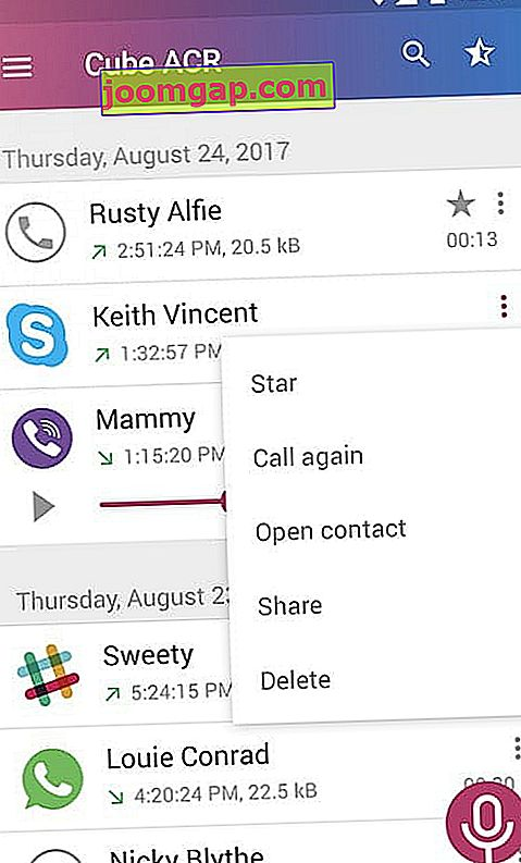 how to record a whatsapp call cube recorder android2