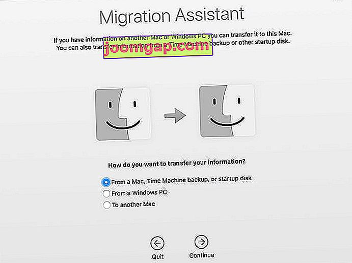 Migrationsassistent Mac Transfer