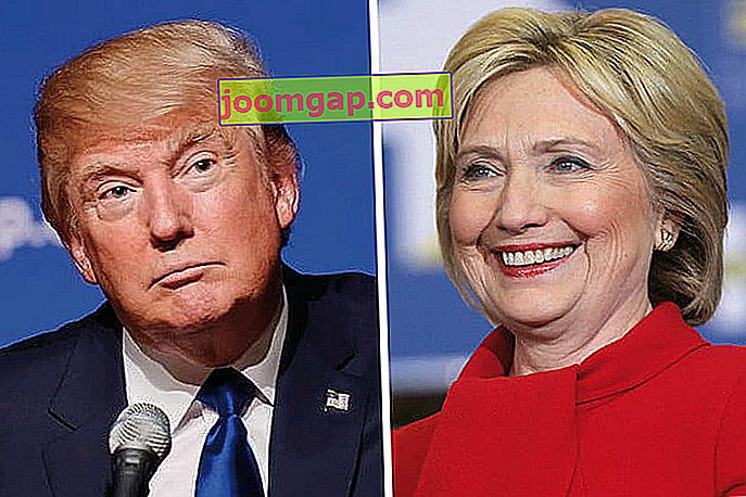 studio di politica sui social media Trump Clinton