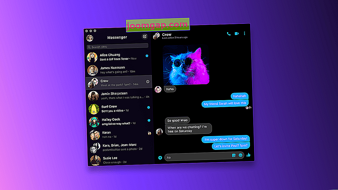 Facebook Messenger Desktop App